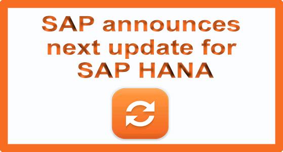 siliconreview SAP announces next update for SAP HANA