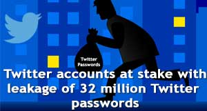 Twitter accounts at stake with leakage of 32 million Twitter passwords