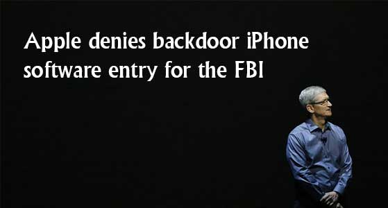 siliconreview Apple denies backdoor iPhone software entry for the FBI