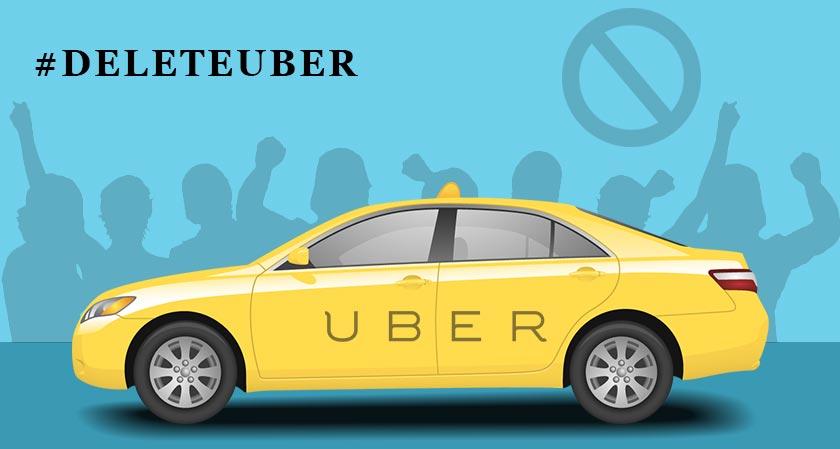 #Delete Uber app on immigration ban protest is sounding big in social media