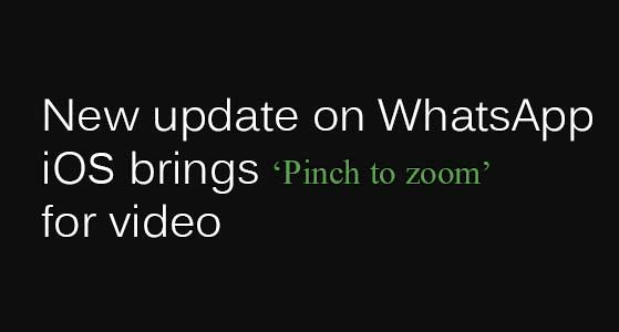 siliconreview New update on WhatsApp iOS brings 'Pinch to zoom' for video
