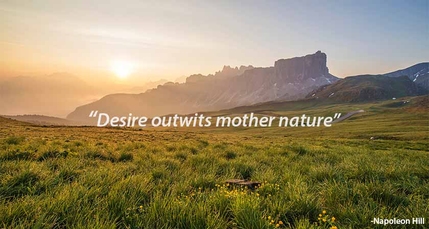 Napoleon Hill on Communicating Desire: 'It Outwits Mother Nature'