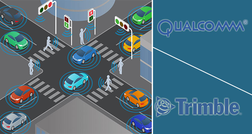 Qualcomm and Trimble Teams Up on Connected Vehicle Positioning