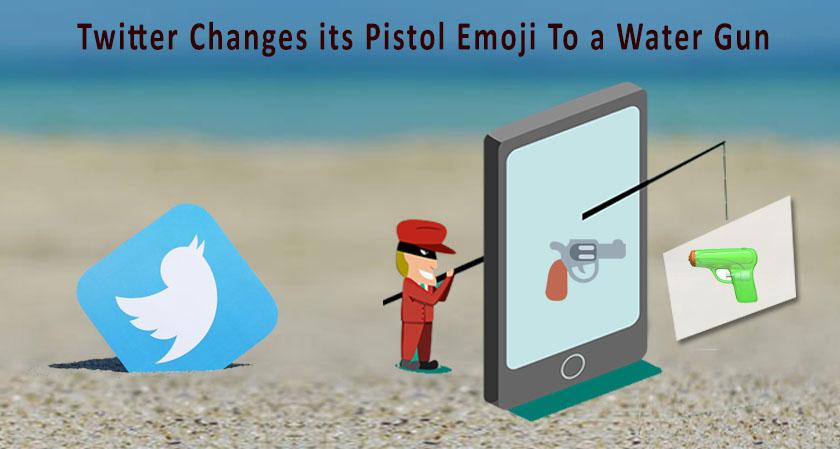 Twitter changes its pistol emoji to a water gun in the new update