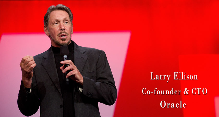 "siliconreview ""You have to believe in what you do in order to get what you want"", says Larry Ellison, Co-founder, CTO and Executive Chairman of Oracle Corporation"
