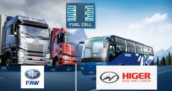 Toyota to Provide Fuel-Cell Technology to China's FAW and Higer Bus