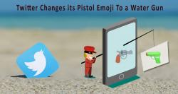 Twitter changes its pistol emoji to a water gun in the new update